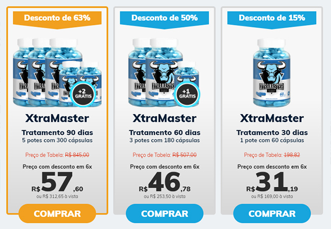 xtramaster valores